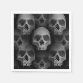 Halloween party   scary skull paper napkin