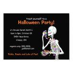 Halloween Party Skeleton Invitations