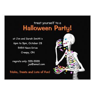 Halloween Party Skeleton Invites