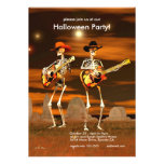 Halloween Party Skeleton Musicians Personalised Invite