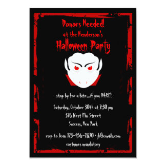 Halloween Party Vampire Invitation