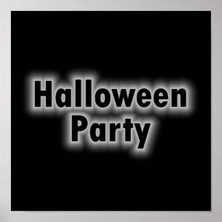 Halloween Party White Glow Poster