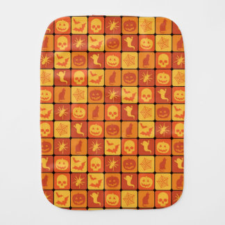 Halloween Pattern 2 Burp Cloth