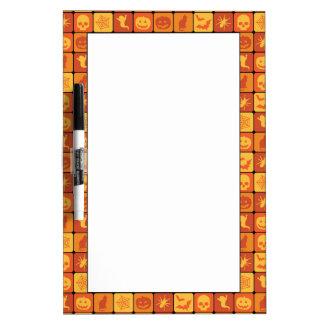 Halloween Pattern 2 Dry Erase Board