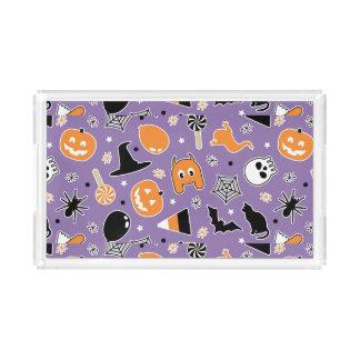 Halloween Pattern 3 Acrylic Tray