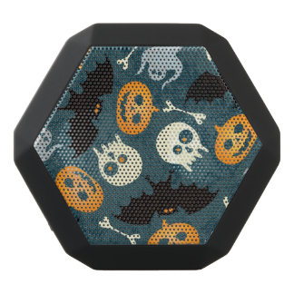 Halloween pattern black bluetooth speaker