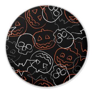 Halloween Pattern Ceramic Knob