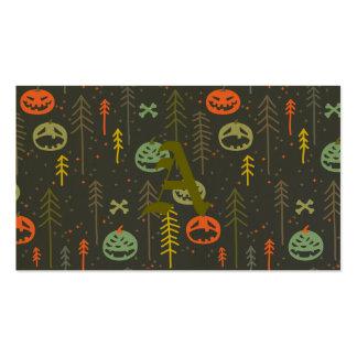 Halloween pattern,cute,hand drawn,skulls,pumkins,d pack of standard business cards
