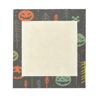 Halloween pattern,cute,hand drawn,skulls,pumkins,d memo notepads