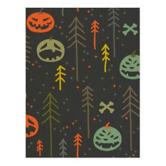 Halloween pattern,cute,hand drawn,skulls,pumkins, postcard