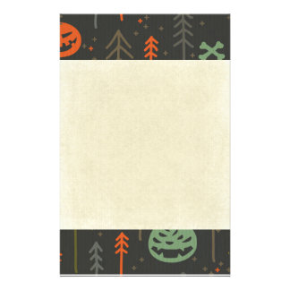 Halloween pattern,cute,hand drawn,skulls,pumkins, personalised stationery