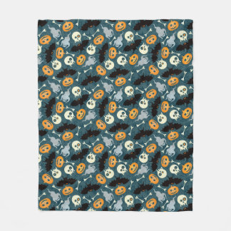 Halloween pattern fleece blanket