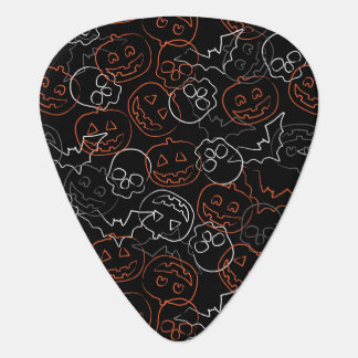 Halloween Pattern Guitar Pick
