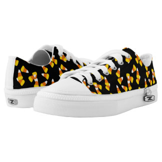 Halloween pattern random candy corn pieces printed shoes