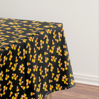 Halloween pattern random candy corn pieces tablecloth
