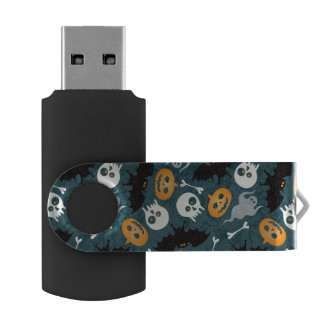 Halloween pattern USB flash drive