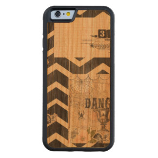 Halloween,pattern,vintage,rustic,old,victorian,col Cherry iPhone 6 Bumper Case