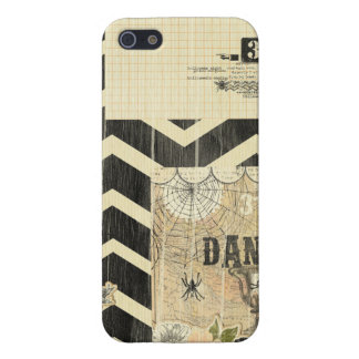 Halloween,pattern,vintage,rustic,old,victorian,col iPhone 5 Case