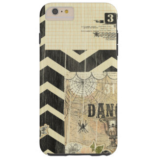 Halloween,pattern,vintage,rustic,old,victorian,col Tough iPhone 6 Plus Case