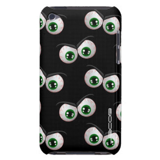 halloween pattern with angry ghosts eyes Case-Mate iPod touch case