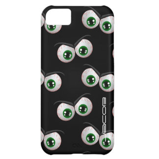 halloween pattern with angry ghosts eyes iPhone 5C case