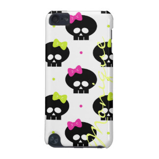 halloween pattern with funny skulls and name iPod touch 5G case