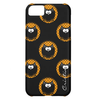 halloween pattern with owls  in hollows iPhone 5C case