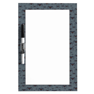 Halloween pattern with spiders dry erase board