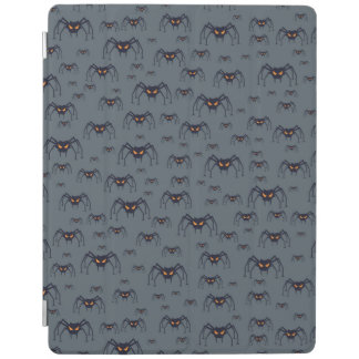 Halloween pattern with spiders iPad cover