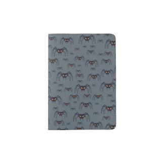Halloween pattern with spiders passport holder