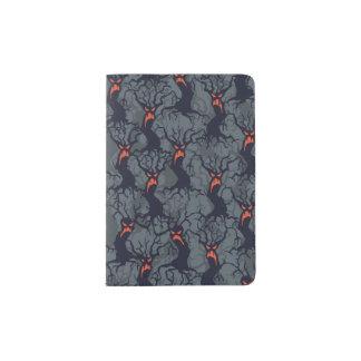 Halloween pattern with trees passport holder