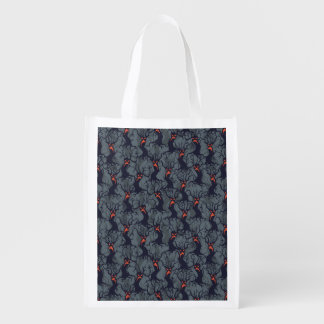Halloween pattern with trees reusable grocery bag