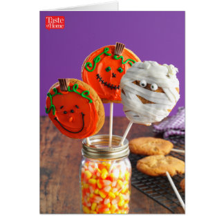 Halloween Peanut Butter Cookie Pops Card