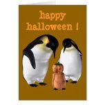 Halloween Penguin Card