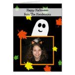 Halloween Photo Greeting Card --  Ghost Frame