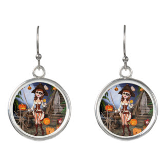 Halloween Pirate Girl Drop Earrings