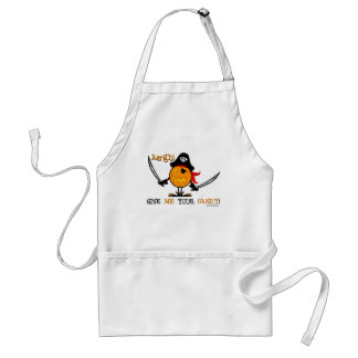Halloween Pirate Pumpkin Standard Apron