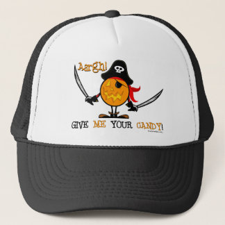 Halloween Pirate Pumpkin Trucker Hat