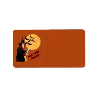 Halloween Poison Gift Label Address Label