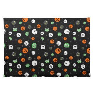 Halloween Polka Dot Faces Placemat