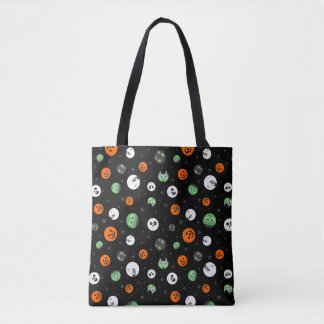 Halloween Polka Dot Faces Tote Bag