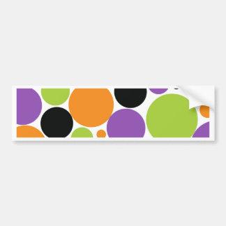 Halloween Polka Dots Bumper Stickers