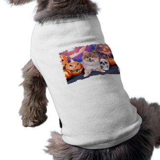 Halloween - Pomeranian - Simba Dog Tee
