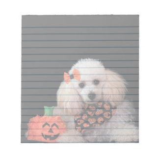 Halloween poodle dog notepad
