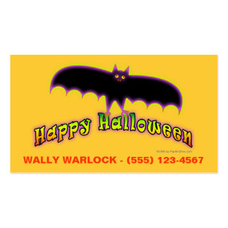 Halloween Profile Cards - Bats 4 Halloween Pack Of Standard Business Cards