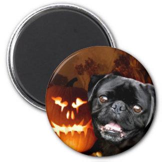 Halloween Pug Dog 6 Cm Round Magnet