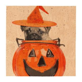 Halloween pug dog drink coaster