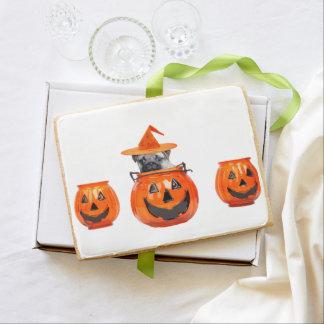 Halloween pug dog jumbo cookie