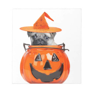 Halloween pug dog memo note pads