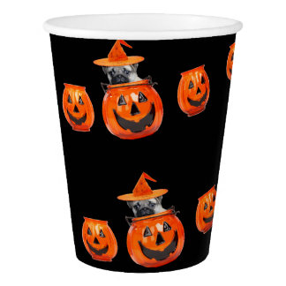 Halloween pug dog party cup